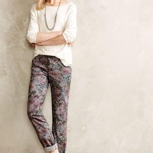 Pilcro and the Letterpress Floral Hyphen Pants